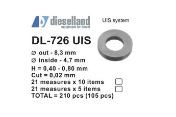 DL-726UIS SHIM SET FOR UIS/UIP